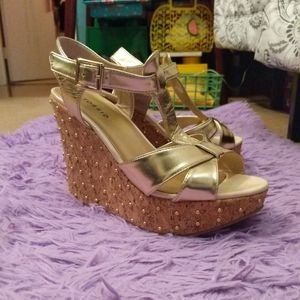 Torrid Gold Wedges